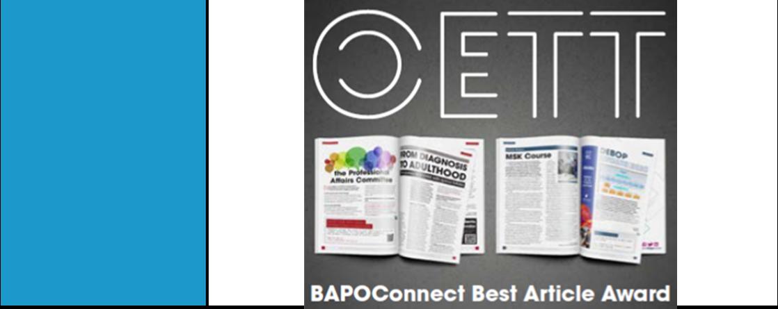 OETT BAPOConnect Best Article Award 2020